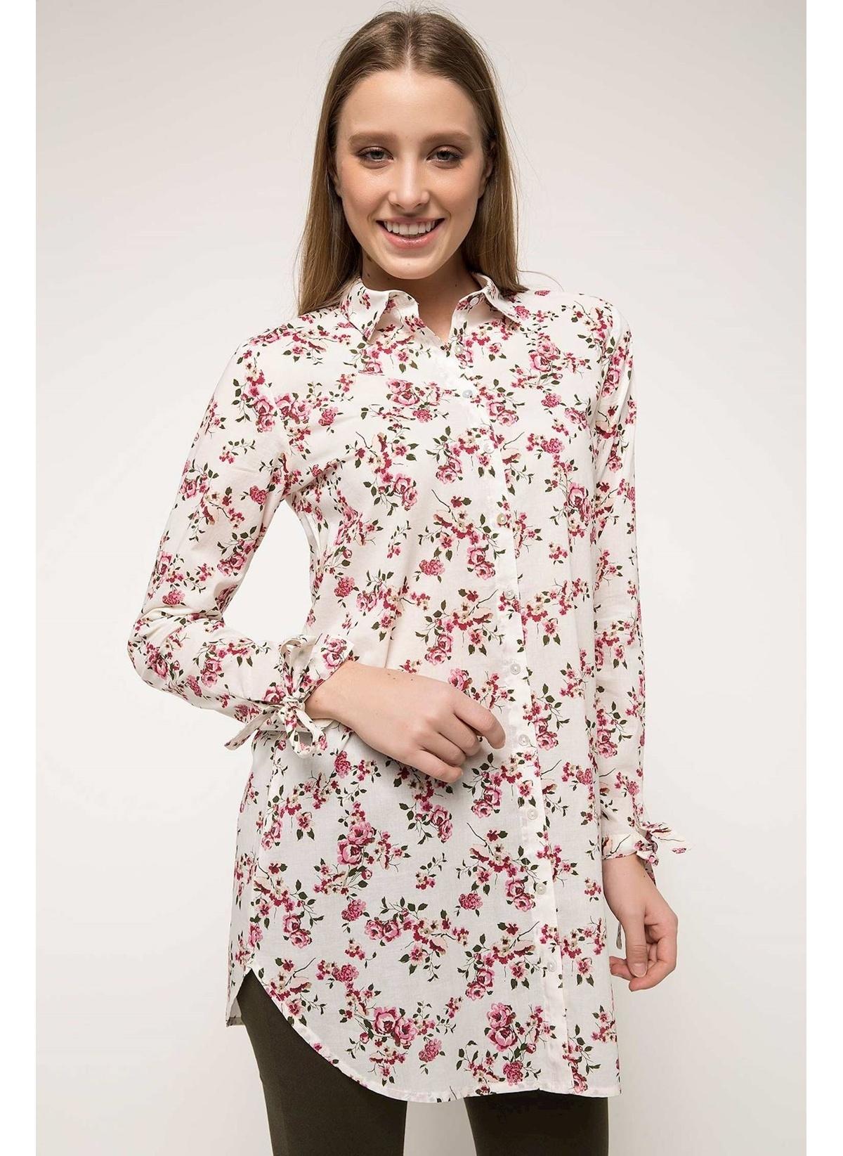 Defacto Floral Desenli Gömlek Tunik H9398az18smer105tunik – 49.99 TL